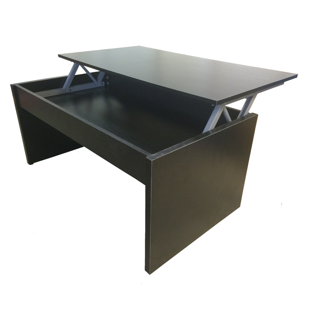 Redstone Lift Up Top Coffee Table With Storage Black