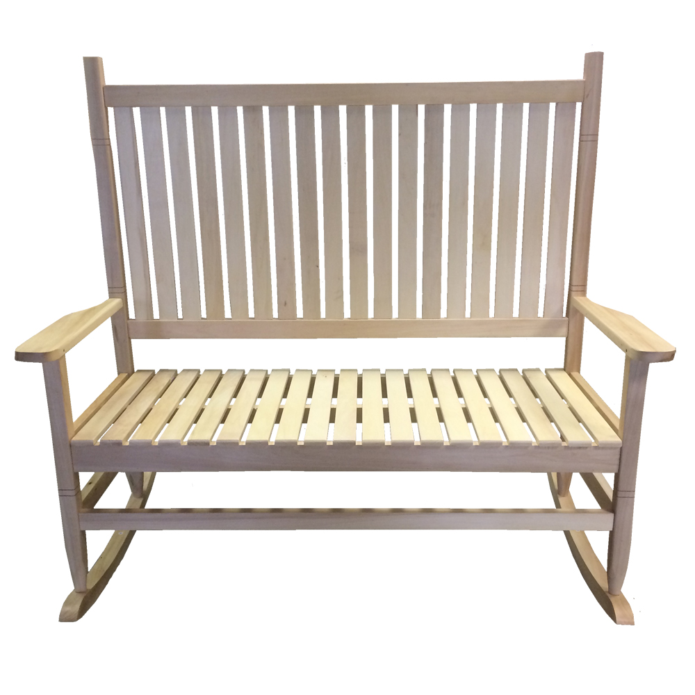 ... Wood Finish – Indoor Outdoor Wooden Garden Bench Recliner Swing Seat
