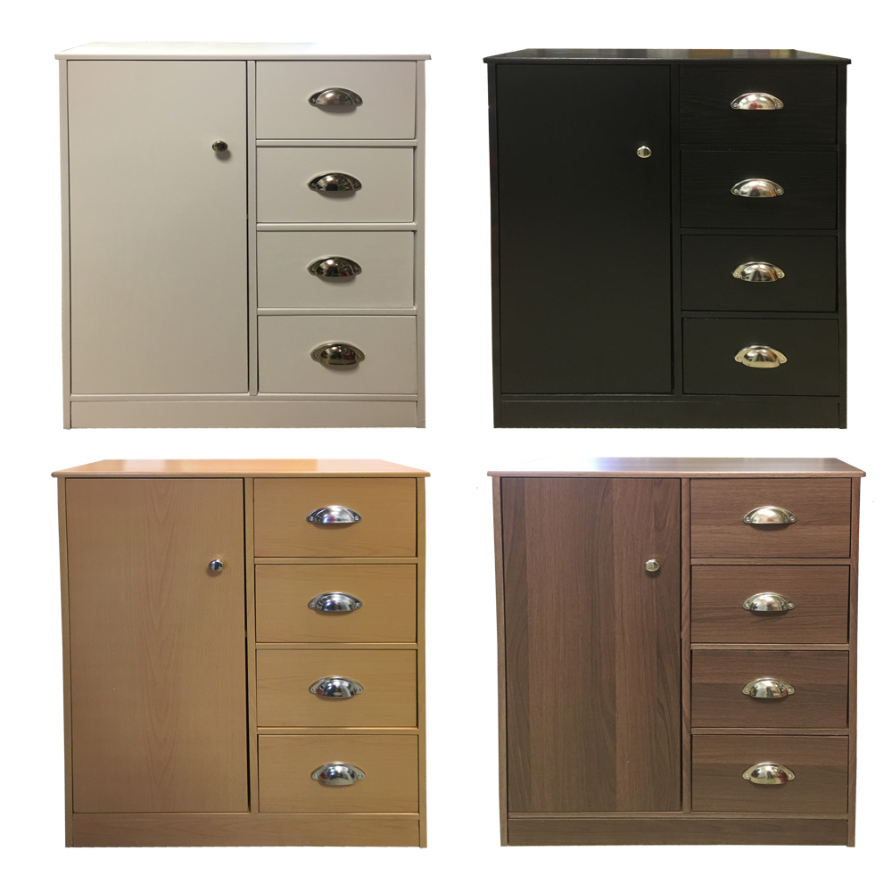 Redstone bathroom cabinet 4 drawers 1 cupboard for Bathroom furniture drawers